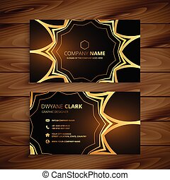 luxury business card in golden style