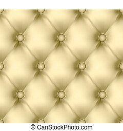 Luxury buttoned gold light leather seamless pattern. EPS 8 vector file included
