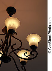 Luxury candelabrum on dark wall background - Luxury...