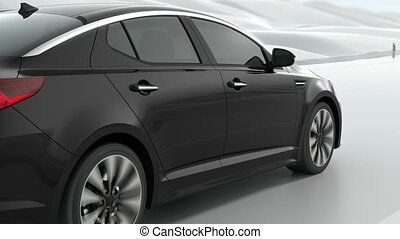 Luxury Car Animation 3d rendering
