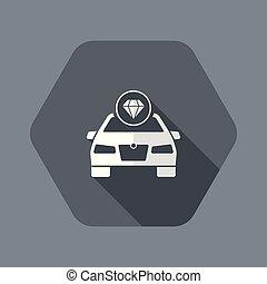 Luxury car concept icon