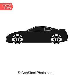 Luxury car icon. Super car design concept. Unique modern...