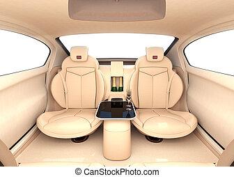 Luxury car interior concept - Autonomous car interior...