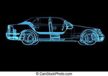 Luxury car isolated on black
