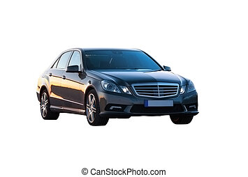 Luxury car isolated over white 3/4 view
