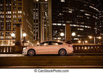 Luxury Car on Side of the Street