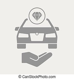 Luxury car services icon - Flat and isolated vector...
