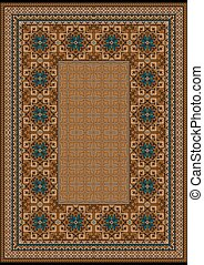 Luxury carpet with a blue pattern a