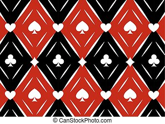 Luxury casino gambling background with card symbols