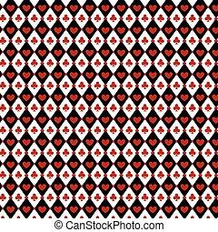 Luxury casino gambling background with card symbols
