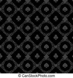 Luxury casino gambling poker background pattern with card symbols