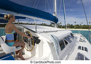 Luxury catamaran - Fiji - South Pacific - Luxury catamaran...