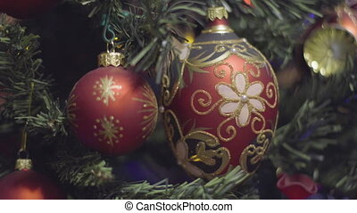luxury Christmas and New Year red gold and black Decoration....