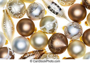 Luxury Christmas ornament background on white