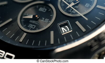Luxury Chronograph Watch With Additional Arrows. Extra Close...