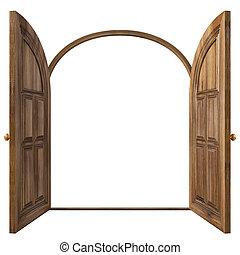 doors - Luxury classic doors. Isolated on white.