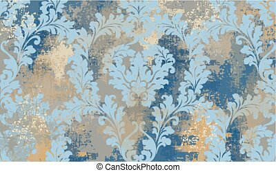 Luxury classic ornament Vector. Grunge background. Baroque intricate design illustrations