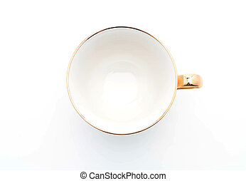 luxury coffee cup on white