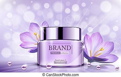 Luxury cosmetic Bottle package skin care cream, Beauty...