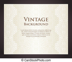 Luxury cream background in vintage style