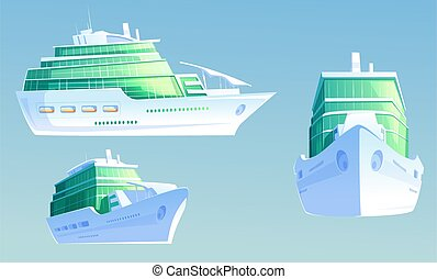 Luxury cruise liner for summer vacation and travel