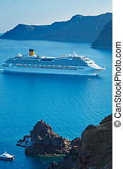 Luxury Cruise Ship, Sailing in the Mediterranean