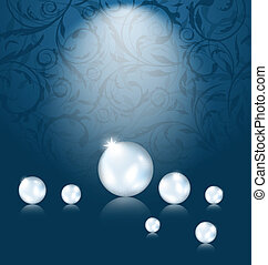 Luxury dark background with pearl reflect - Illustration...