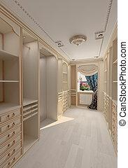 dressing room interior - luxury dressing room interior (3D ...