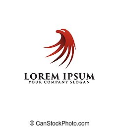 luxury eagle head logo design concept template