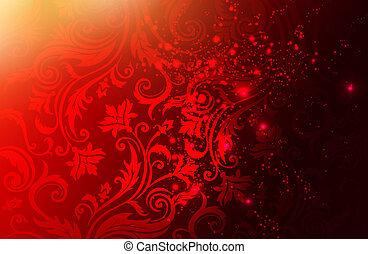 Luxury elegant red background