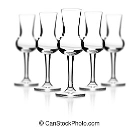 Luxury empty glass on white background