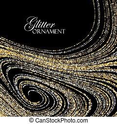 Luxury festive background with shiny golden glitters.