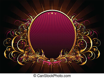 luxury floral frame - Vector illustration of abstract luxury...