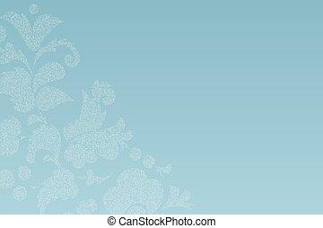 Luxury floral stamp effect card design