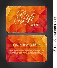 Luxury gift card - top and bottom side - Top and bottom side...