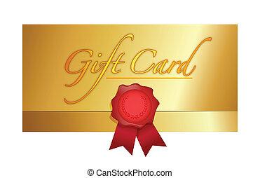 luxury gift certificate illustration design
