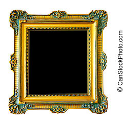 Luxury gilded frame. Isolated over white background with ...