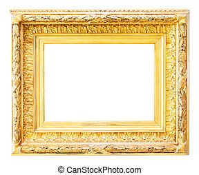 Luxury gilded  frame over white