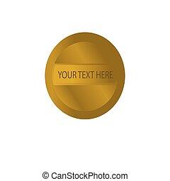 Luxury gold design logo banner or button