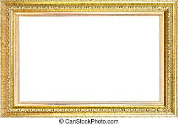 Luxury gold frame isolated.