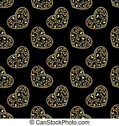gold hearts seamless