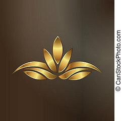 Luxury Gold Lotus plant image logo