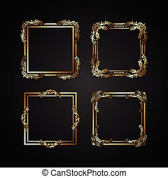 Luxury gold vector frame