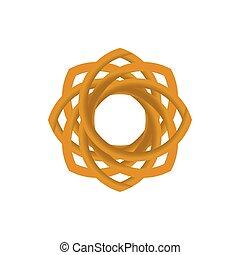 Luxury golden circle logo abstract vector