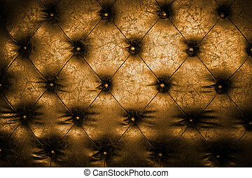 Luxury golden leather close-up background with great detail for background, check my port for a seamless version