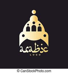 Luxury golden mosque dome