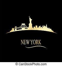 Luxury golden New york skyline - vector illustration