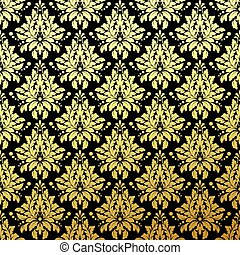 Luxury Golden Seamless Wallpaper Pattern. Vector illustration