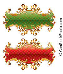 Luxury golden vector frame