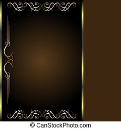 Luxury golden vintage card